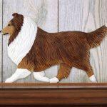 Sheltie Dog Figurine Sign Plaque Display Wall Decoration Sable 1