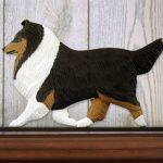 Sheltie Dog Figurine Sign Plaque Display Wall Decoration Tri 1