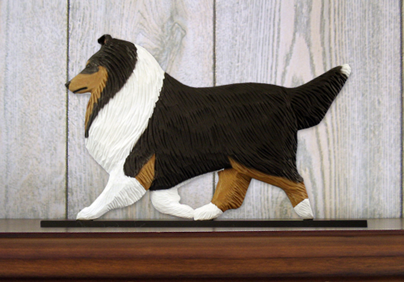 Sheltie Dog Figurine Sign Plaque Display Wall Decoration Tri