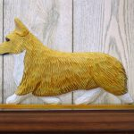 Welsh Corgi Pembroke Dog Figurine Sign Plaque Display Wall Decoration Blonde 1