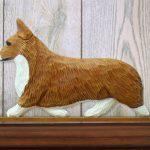 Welsh Corgi Pembroke Dog Figurine Sign Plaque Display Wall Decoration Red 1
