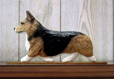 Welsh Corgi Pembroke Dog Figurine Sign Plaque Display Wall Decoration Sable 1
