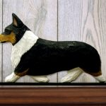 Welsh Corgi Pembroke Dog Figurine Sign Plaque Display Wall Decoration Tri 1