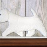 Westie Dog Figurine Sign Plaque Display Wall Decoration 1