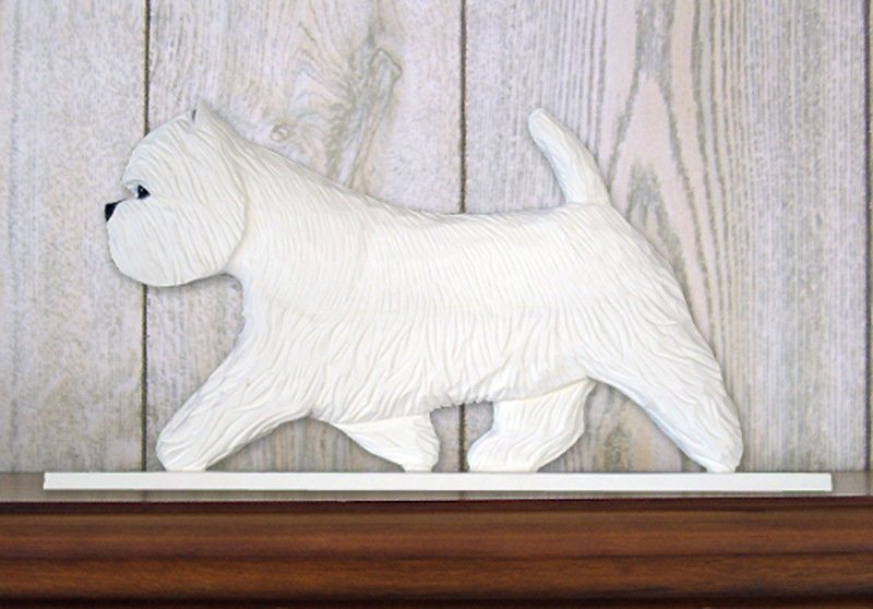 Westie Dog Figurine Sign Plaque Display Wall Decoration