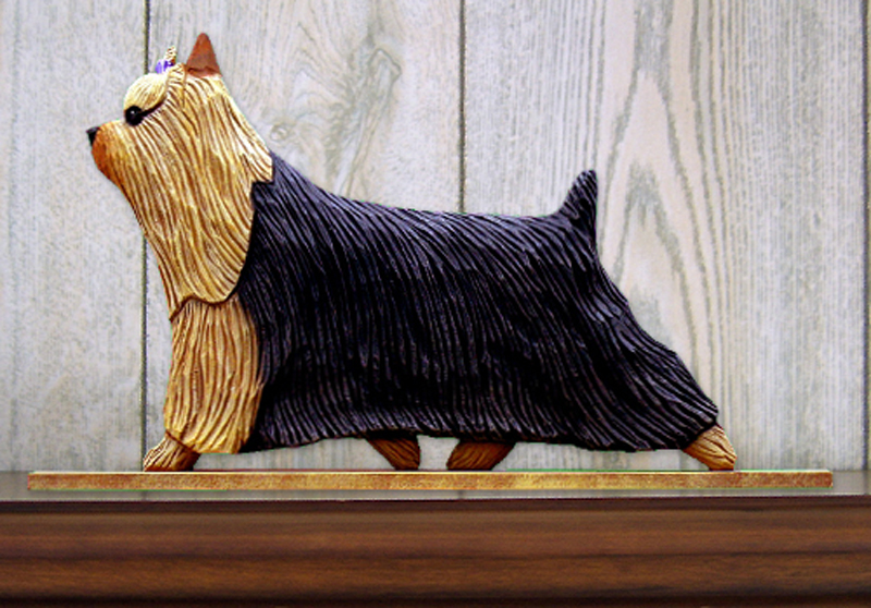 Yorkie Dog Figurine Sign Plaque Display Wall Decoration