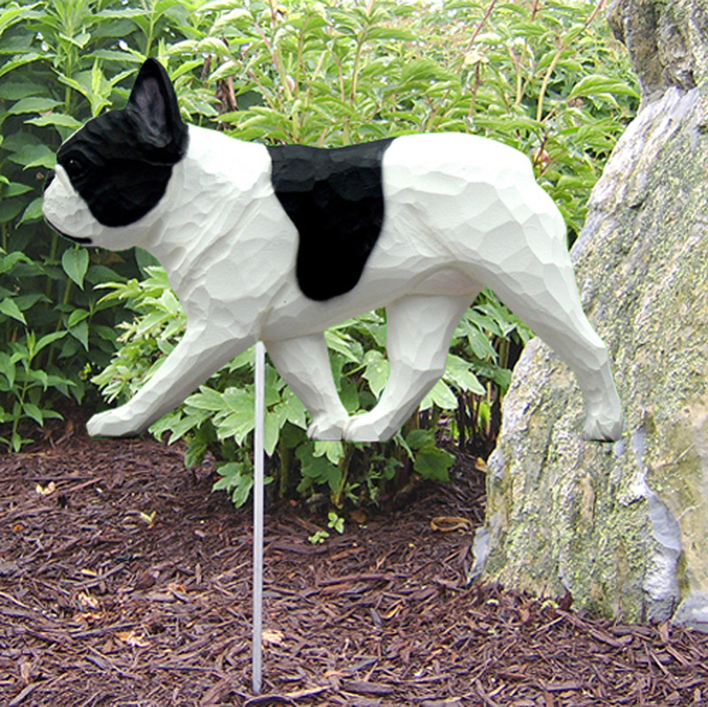 French Bulldog Pied Garden Stake Sign