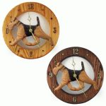 Airedale Wood Clock Wall Plaque 1