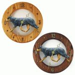 Australian Cattle Dog Wood Wall Clock Plaque Blue
