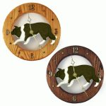Border Collie Wood Clock Wall Plaque Black