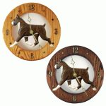 Boxer Wood Wall Clock Plaque Brindle 1