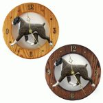 Boxer Wood Wall Clock Plaque Brindle Uncrop 1