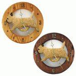 Cairn Terrier Wood Wall Clock Plaque Wheaten