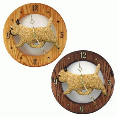 Cairn Terrier Wood Wall Clock Plaque Wheaten 1