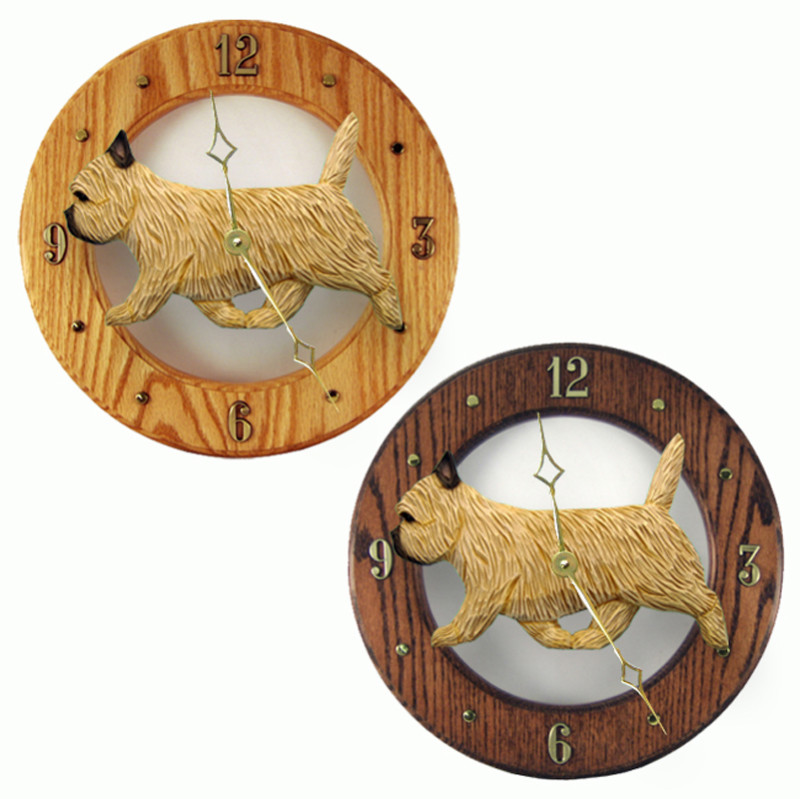 Cairn Terrier Wood Wall Clock Plaque Wheaten