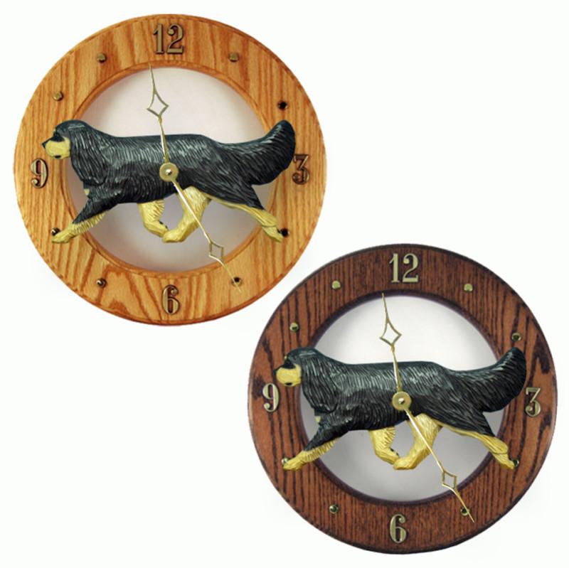 Cavalier King Charles Wood Wall Clock Plaque Blk/Tan