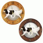Cavalier King Charles Wood Wall Clock Plaque Tri 1