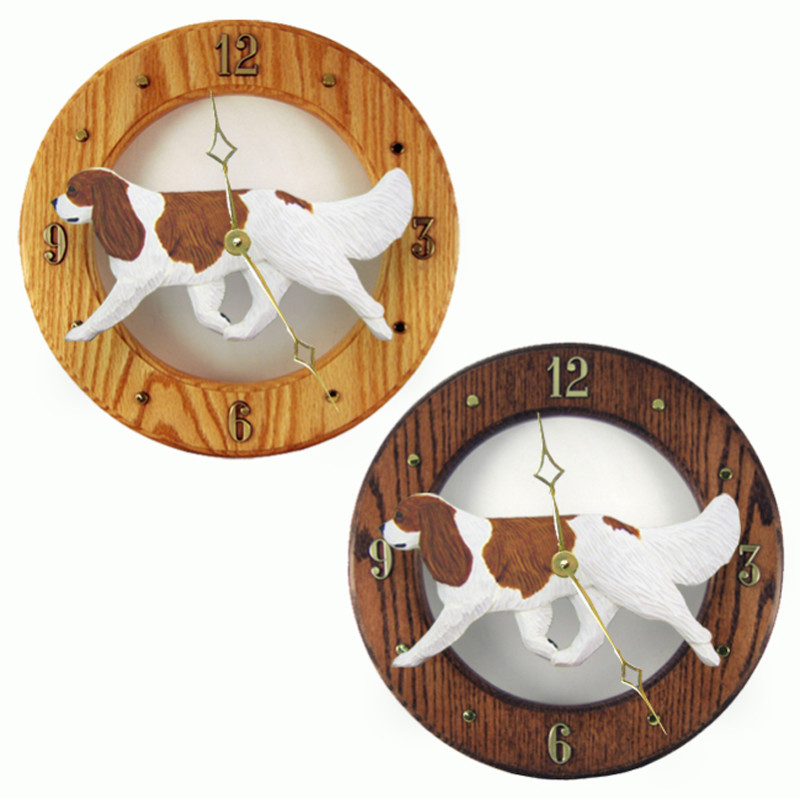 Cavalier King Charles Wood Wall Clock Plaque Blen