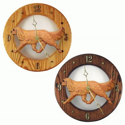 Cavalier King Charles Wood Wall Clock Plaque Ruby 1
