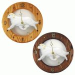 Clumber Spaniel Wood Wall Clock Plaque Lemon