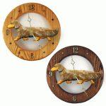Dachshund Long Wood Wall Clock Plaque Red Dapple 1
