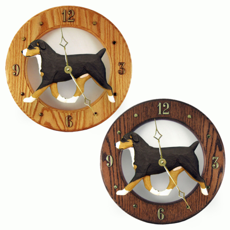Entlebucher Mt. Dog Wood Wall Clock Plaque