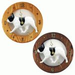 French Bulldog Wood Wall Clock Plaque Pied