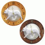 French Bulldog Wood Wall Clock Plaque Wht 1