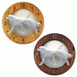 Great Pyrenees Wood Wall Clock Plaque