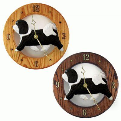 Havanese Wood Wall Clock Plaque Blk/Wht 1