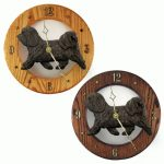 Havanese Wood Wall Clock Plaque Dark Grey 1