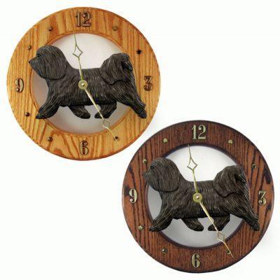 Havanese Wood Wall Clock Plaque Dark Grey