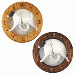 Jack Russell Terrier Wood Wall Clock Plaque Blk/Wht 1
