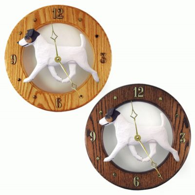 Jack Russell Terrier Wood Wall Clock Plaque Tri 1