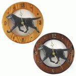 Black Lab Wood Clock Wall Plaque