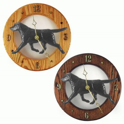 Black Labrador Wood Clock Wall Plaque