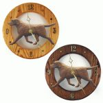 Chocolate Labrador Wood Wall Clock Plaque