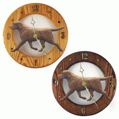 Chocolate Labrador Wood Wall Clock Plaque 1