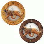 Leonberger Wood Wall Clock Plaque 1