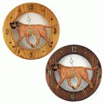 Mastiff Wood Wall Clock Plaque Apricot Brindle 1