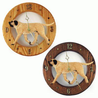 Mastiff Wood Wall Clock Plaque Fawn