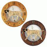 Mastiff Wood Wall Clock Plaque Fawn Brindle 1
