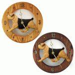 Norfolk Terrier Wood Wall Clock Plaque Blk/Tan 1