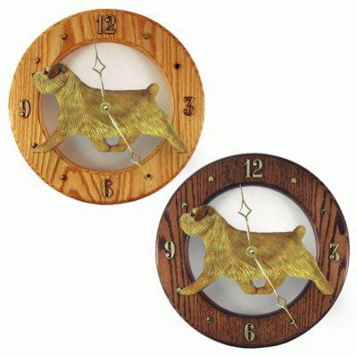 Norfolk Terrier Wood Wall Clock Plaque Grizzle