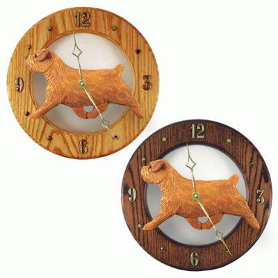Norfolk Terrier Wood Wall Clock Plaque Red 1