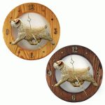 Norfolk Terrier Wood Wall Clock Plaque Wheaten