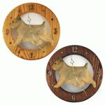 Norwich Terrier Wood Wall Clock Plaque Grizzle