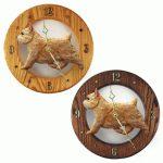 Norwich Terrier Wood Wall Clock Plaque Wheaten 1