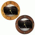 Pekingese Wood Wall Clock Plaque Blk