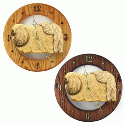 Pekingese Wood Wall Clock Plaque Fawn 1